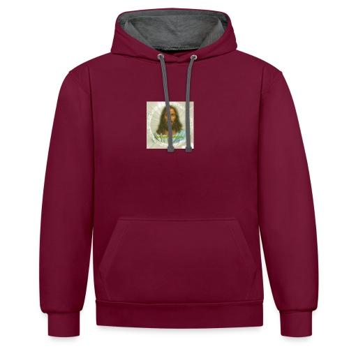 ROSTRO DE JESUS CON CODIGOS SAGRADOS - Sudadera con capucha en contraste