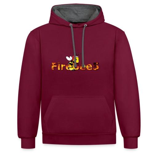 FireBee5 - Comic-Style - Kontrast-Hoodie