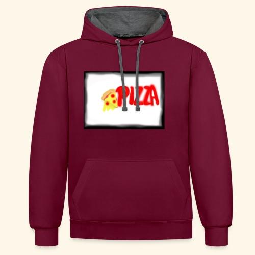 Pizza - Kontrast-Hoodie