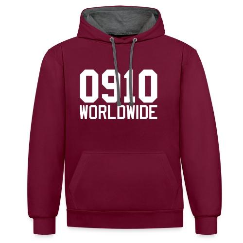 0910 WORLDWIDE CREW CAP - Kontrastluvtröja