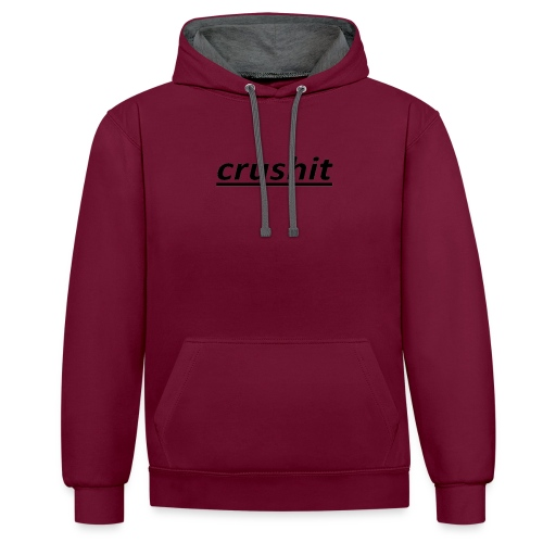 crushit - Contrast Colour Hoodie