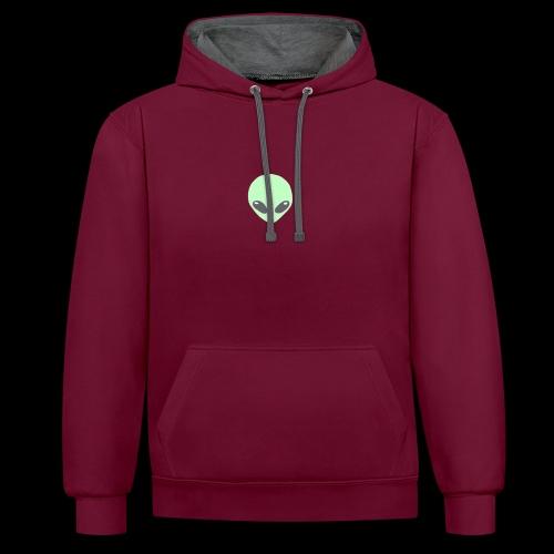 Alien-pet - Contrast hoodie