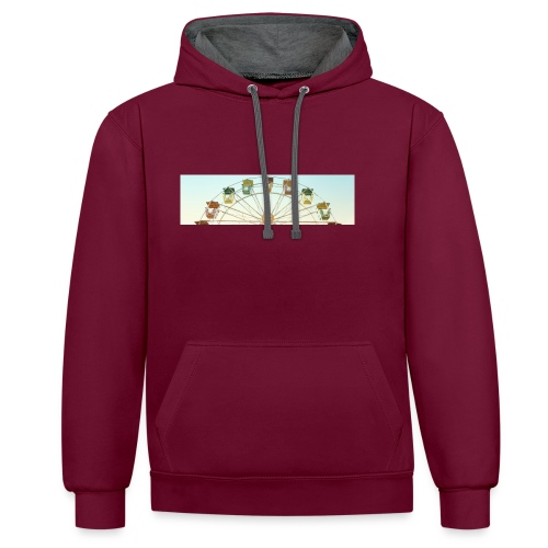 header_image_cream - Contrast Colour Hoodie