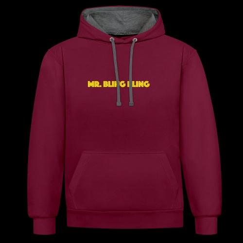 bling bling - Kontrast-Hoodie