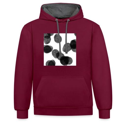 Black clouds - Contrast Colour Hoodie