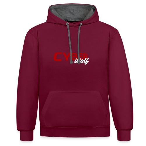 T-shirt Zwart - Contrast hoodie