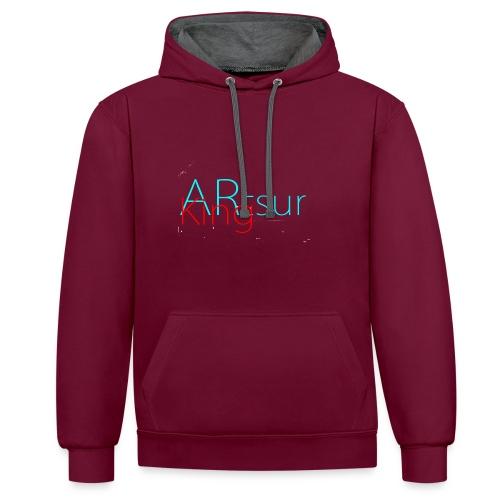 ARtsurKing Logo - Contrast Colour Hoodie