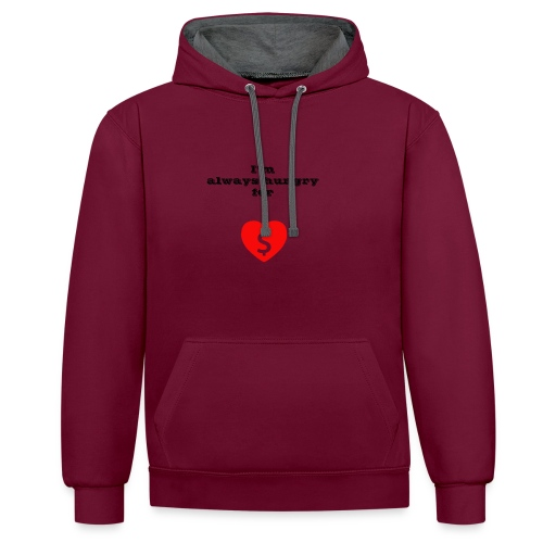 Money or Love - Contrast Colour Hoodie