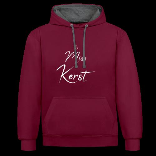 Miss Kerst - Contrast hoodie