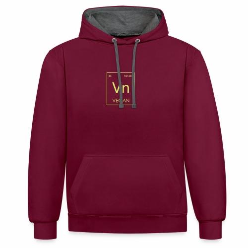 Vegan Element Shirt Veganer T-Shirt Geschenk - Kontrast-Hoodie