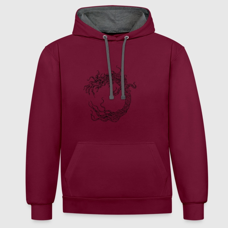 the ancient tree - Contrast Colour Hoodie