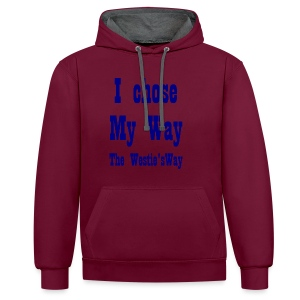 I chose My Way Navy - Contrast Colour Hoodie