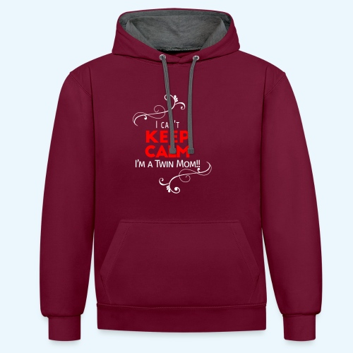 I Can't Keep Calm (voor donkere stof) - Contrast hoodie