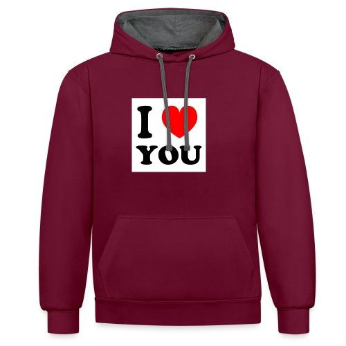 Sweater met i love you - Contrast hoodie