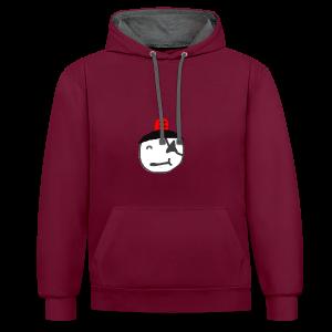 Haramstufe Rot - Kontrast-Hoodie