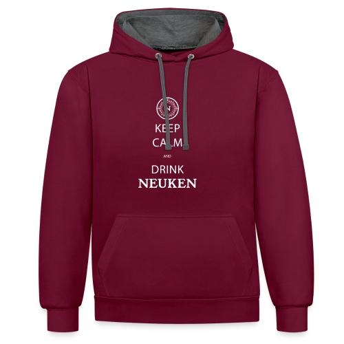 keep calm drink neuken - Contrast hoodie