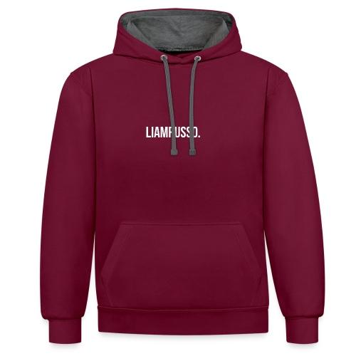 LiamRusso logo wit - Contrast hoodie
