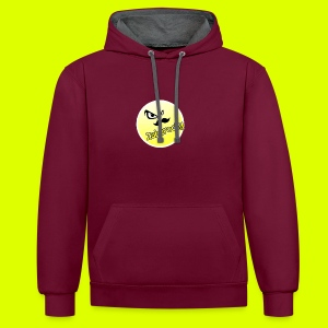 Shirt with nice logo with text - Contrast Colour Hoodie