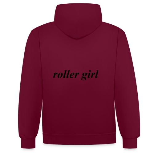 roller girl ♥ - Kontrastluvtröja
