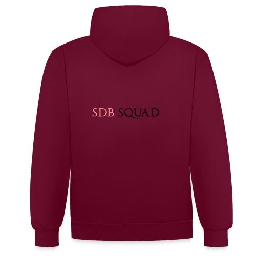 SDB SQUAD - Felpa con cappuccio bicromatica