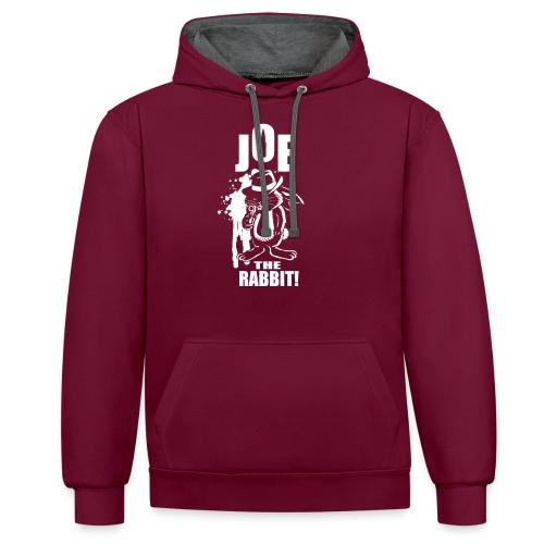 Joe The Rabbit! - Felpa con cappuccio bicromatica