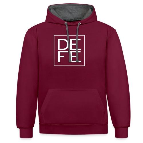 defelogo - Contrast Colour Hoodie