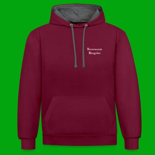 Rover logo en Tekst, Je kan zelf naam toevoegen - Contrast hoodie