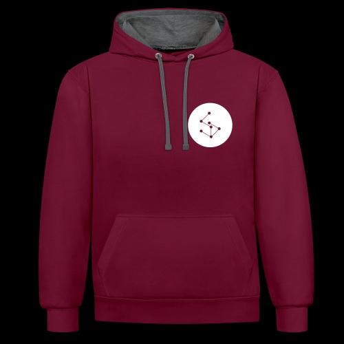 Lan Circle Hoodie Red - Contrast Colour Hoodie