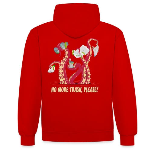 Octopus : No More trash,please! - Sweat-shirt contraste