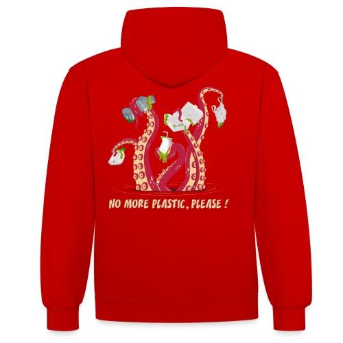 No more plastic ! - Sweat-shirt contraste
