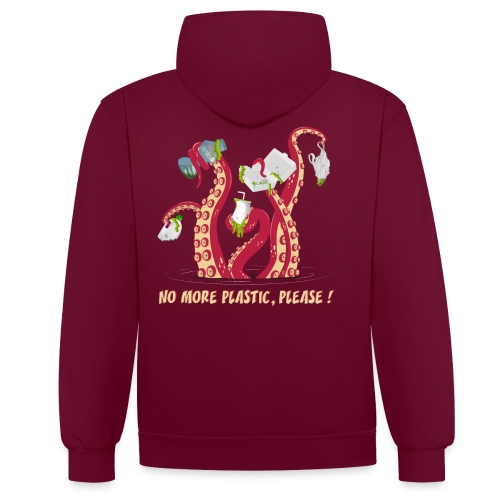 No more plastic ! - Sweat-shirt contraste