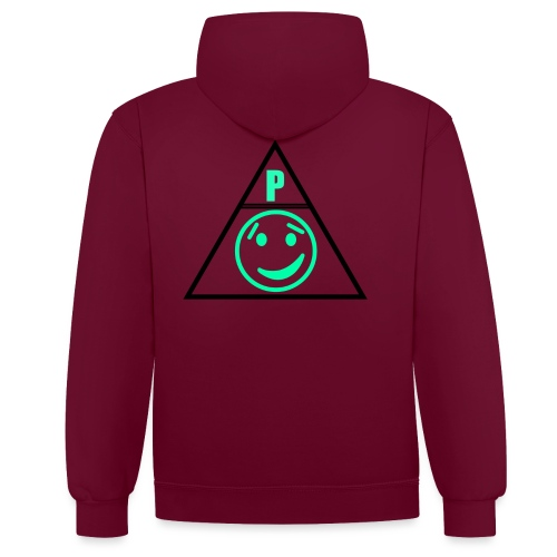 png - Contrast Colour Hoodie