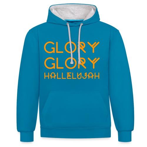 Glory Print O - Kontrast-hættetrøje