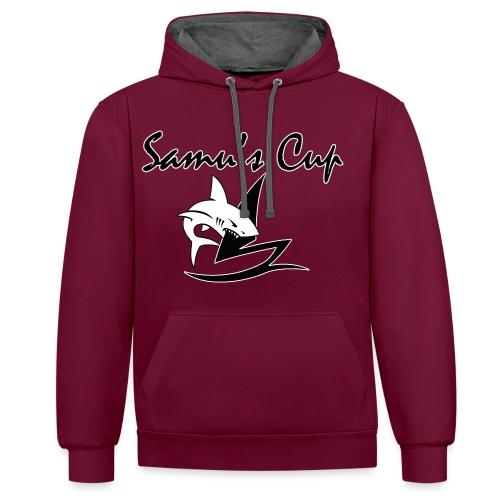 Samu s cup texte png - Sweat-shirt contraste