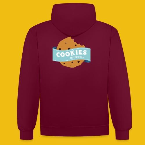 Cookies - Logo Tondo - Felpa con cappuccio bicromatica