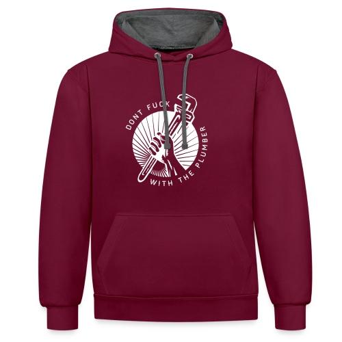 plumber_design2 - Contrast hoodie