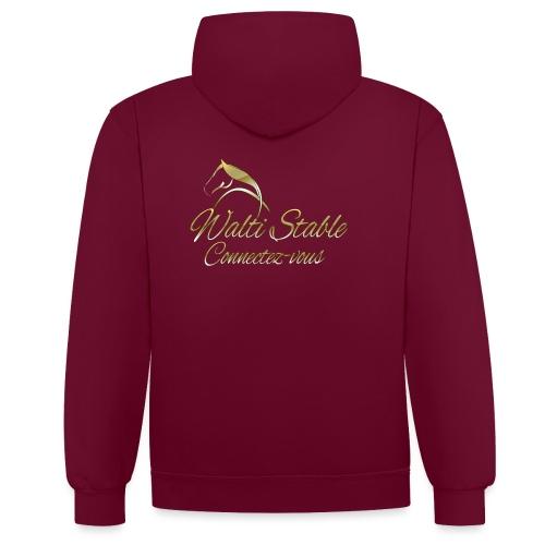 logo walti gold avec connectez png - Sweat-shirt contraste