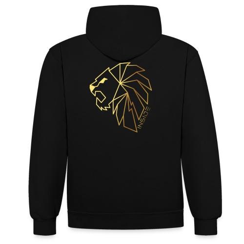 Löwe, Lion Inside - Kontrast-Hoodie