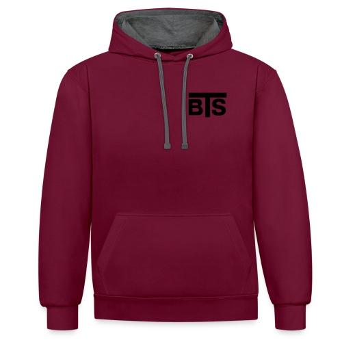 bts logo schrift rz illu10 - Kontrast-Hoodie