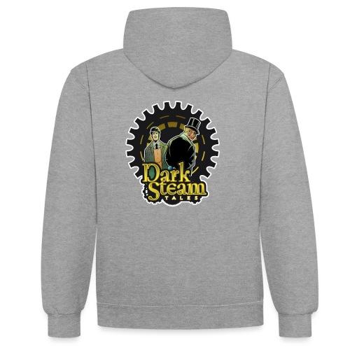 Dark Steam Tales Logo - Felpa con cappuccio bicromatica