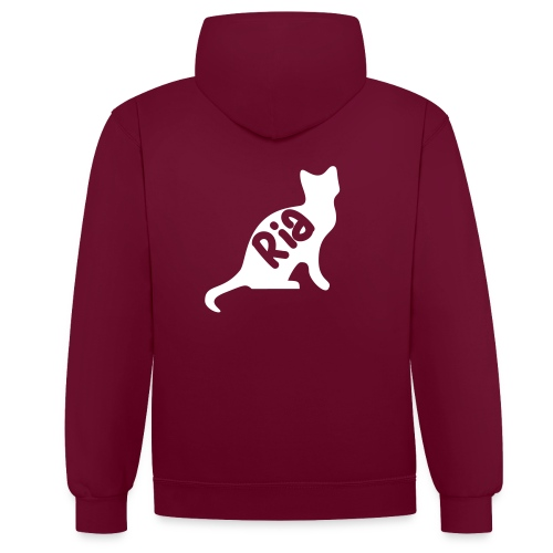 Team Ria Cat - Contrast Colour Hoodie