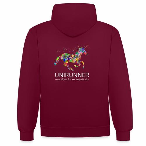 unirunner - alleen voor magische hardloopfans - Contrast hoodie