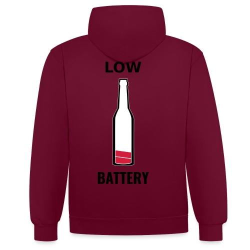 Beer Low Battery - Sweat-shirt contraste