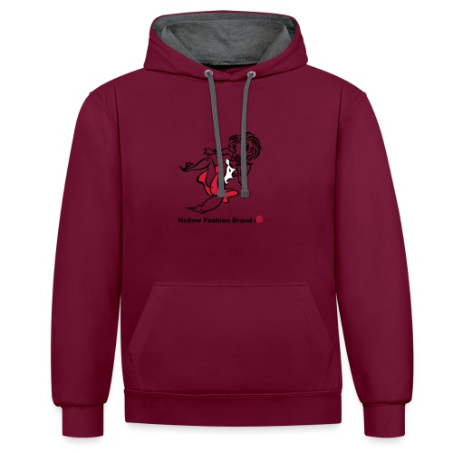 Hollow Fashion Brand i® - Contrast Colour Hoodie