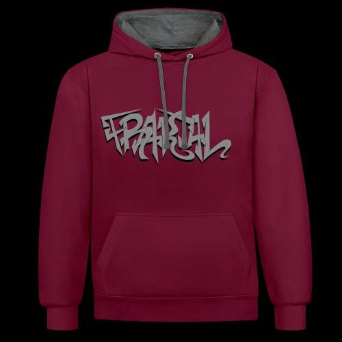 Fraktal grey/black HD - Kontrast-Hoodie