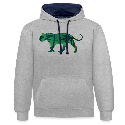 Tiger in the jungle... - Sweat-shirt contraste