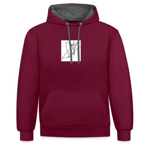 Tshirt - Contrast Colour Hoodie