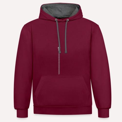 Zipper Funny Surprising T-shirt, Hoodie,Cap Print - Contrast Colour Hoodie