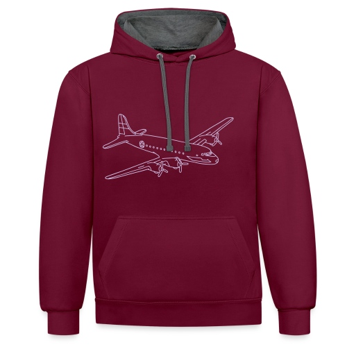Flugzeug - Kontrast-Hoodie
