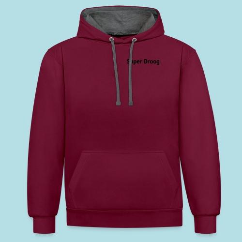 Super Droog Zwart - Contrast hoodie